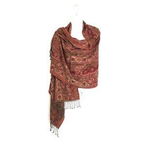 Charter Club Damask Wool Silk Shawl Scarf